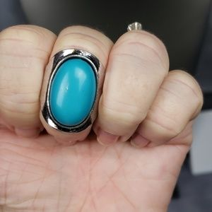 New Ring Turquoise Stone set in Silver